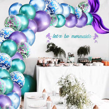 Mermaid Tail Balloon Garland Air For Baby Shower Wedding Kids Birthday Party Decoration Supplies