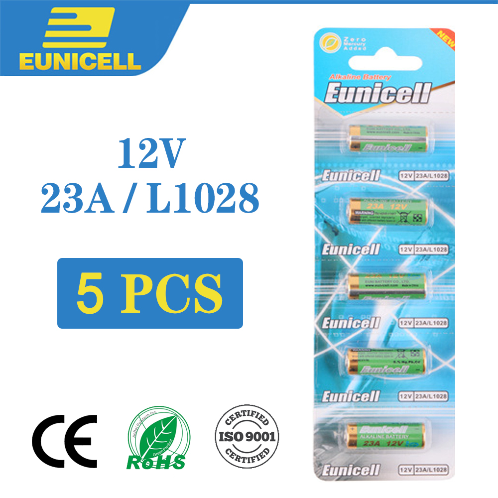 5PCS 12V Small Batteries 23A 21/23 A23 E23A MN21 MS21 V23GA L1028 Alkaline Dry Battery For Alarm Doorbell Car Remote Control Etc