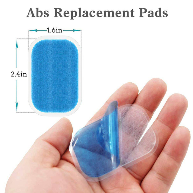 Gel Pads for EMS Abdominal ABS Trainer Weight Loss Hip Muscle Stimulator Exerciser Replacement Massager Gel Patch 2