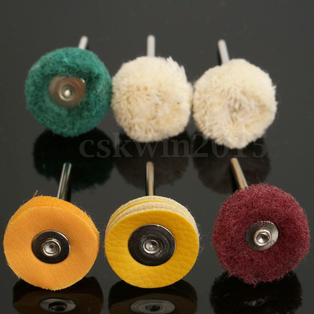 6-Piece Set Polish Grinding Head Cloth Wheel Wool Yarn Roll Fiber Vinylon