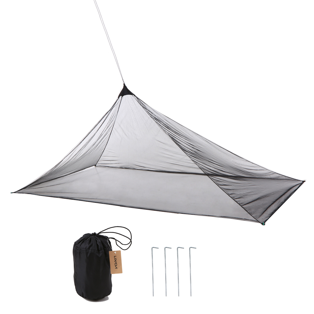 Lixada Camping Tent Ultralight Mosquito Repellent Mesh Net Outdoor Insect Bugs Shelter Pyramid Mesh Net Camping Tent Outdoor