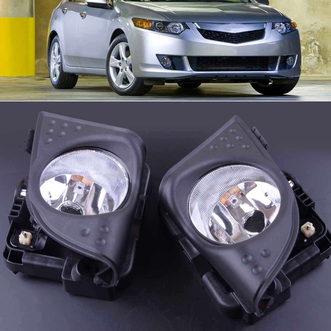Beler 1 paire voiture gauche droite avant brouillard conduite lampe couvercle garniture cadre pour Acura TSX 2009 2010 33900TL0A01 33950TL0A01