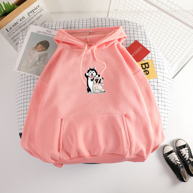 2020 Spring&Autumn Hoodies Women Hooded Cartoon Print Korean Style Long Women Clothing Bts Kpop Sweatshir Free Shipping