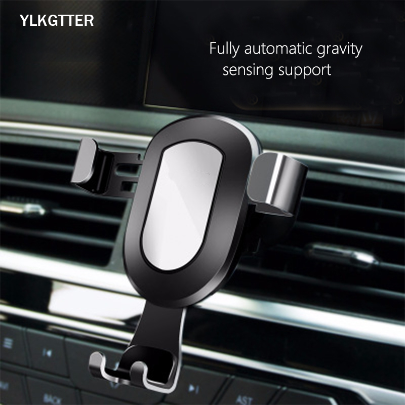 YLKGTTER Gravity Car Phone Holder for Car CD Slot Air Vent Mount Phone Holder for iphone Xiaomi Samsung in Phone Holder Stand Universal Car Bracket     - title=