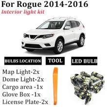 8x canbus автомобиля светодиодный для 2014 2015 2016 nissan