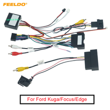 FEELDO Car 16Pin Android Stereo Power Wiring Harness With Canbus For Ford Kuga(18-19)/Focus(12-18)/Edge(15-18)/Explorer(18+)