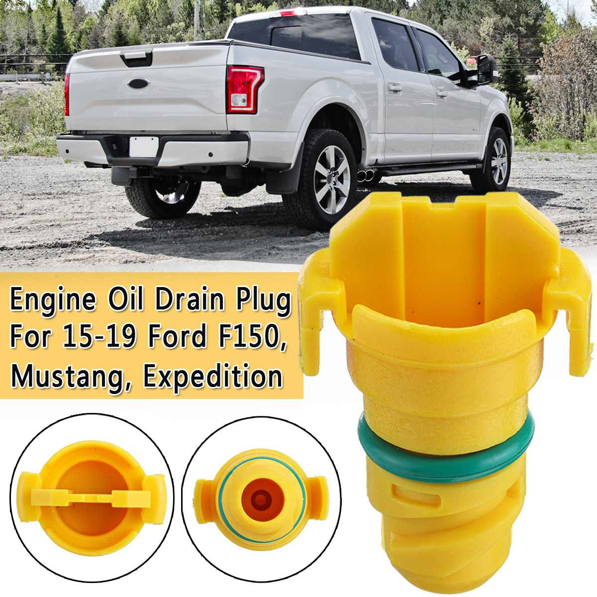 Engine Oil Drain Plug Screw Car Engine Eco-friendly Oil Pan Magnetic Anti Leak For Ford F150 for <font><b>Mustang</b></font> Expedition <font><b>2015</b></font> -<font><b>2019</b></font> image