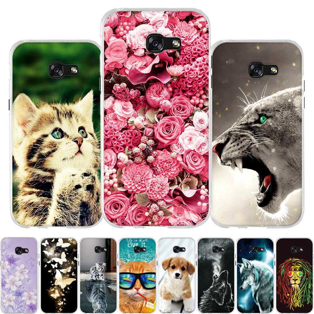 For Samsung Galaxy A3 2017 Case Soft TPU Silicone For Samsung Galaxy A5 2017 Cover Animal Pattern For Samsung A3 A5 2017 Funda