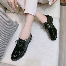 Лакированные кожаные туфли plattform элегантные для женщин вечерние