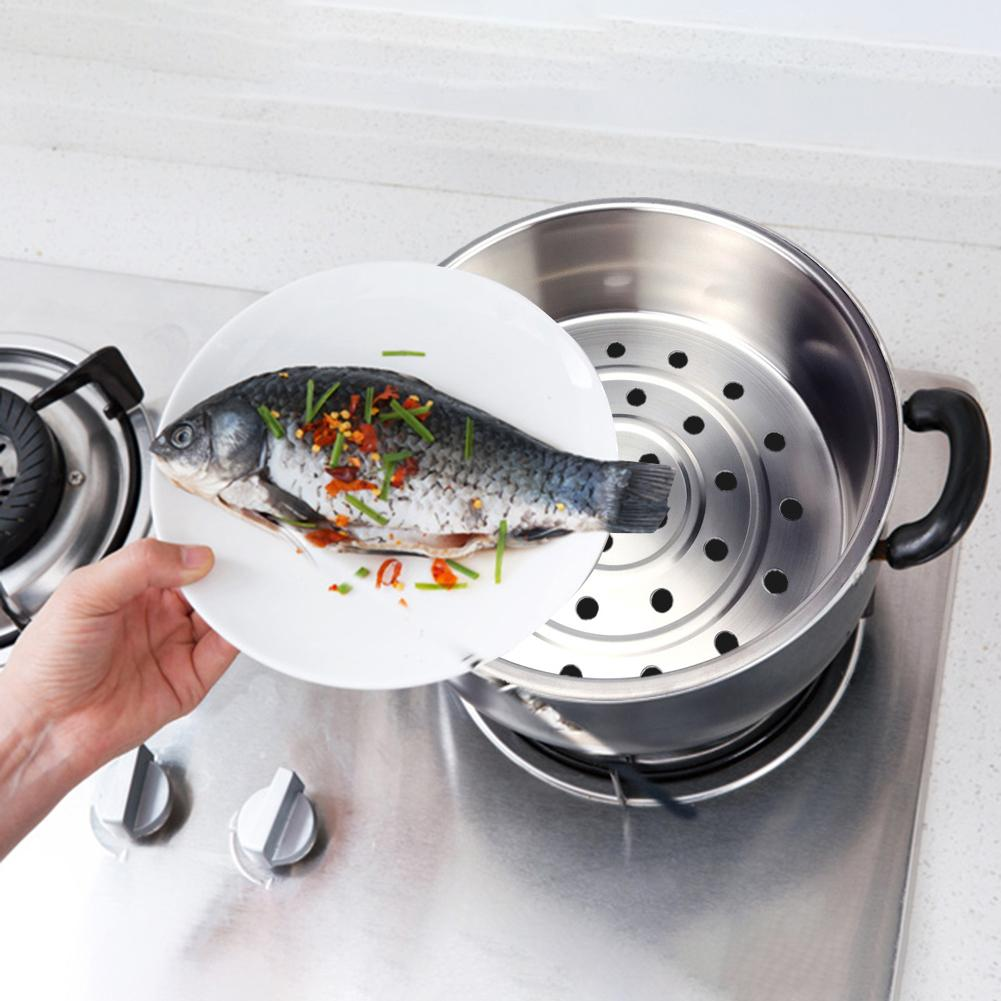 Durable Stainless Steel Food Steamer Steaming Basket Vegetable Fruit Cleaning Tools Kitchen Supplies Easy To Clean