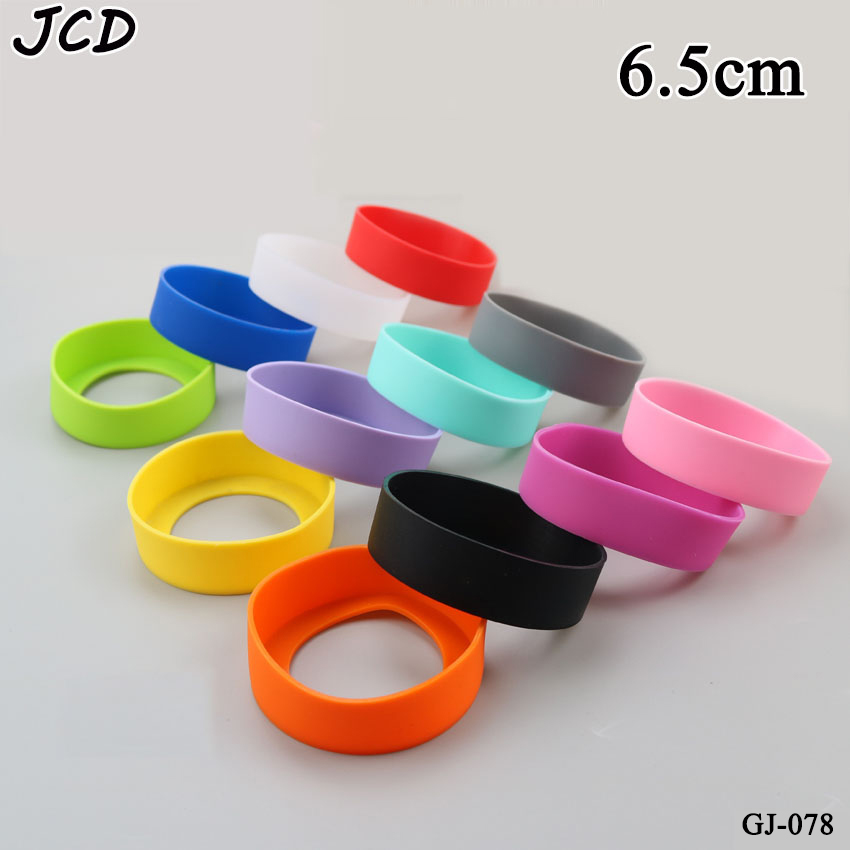 JCD 6.5cm Water Cup Mat Silicone Sleeve Accessories Special Sheath Cup Bottom Ring Wear Resistant Shatter Resistant Bottom Cover