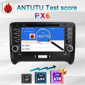 Image 4 - Autoradio 2 DIN Android 10 car radio PX6 For Audi TT MK2 8J 2006 2012 2DIN auto audio Car stereo navigation screen multimedia