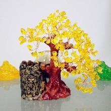 Citrine ornaments crafts home decorations living room pen holder feng shui tree crystal tree dai yutang best selling home office feng shui ornaments ceramic buddha 12 inch maitreya d06 68