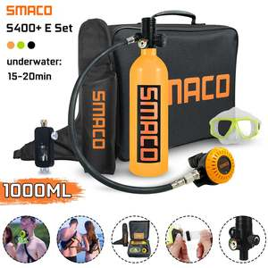 SMRCO S400+ Portable Rich Combination Diving Equipment Oxygen Cylinder Set Underwater Respirator 1 Liter Capacity Reusable(China)