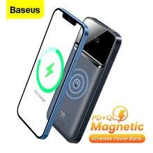 Baseus Power Bank 10000mAh PD 20W Magnetische Drahtlose Ladegerät Externe Batterie Tragbare Power Für iPhone 12 Serie POCO x3 Pro