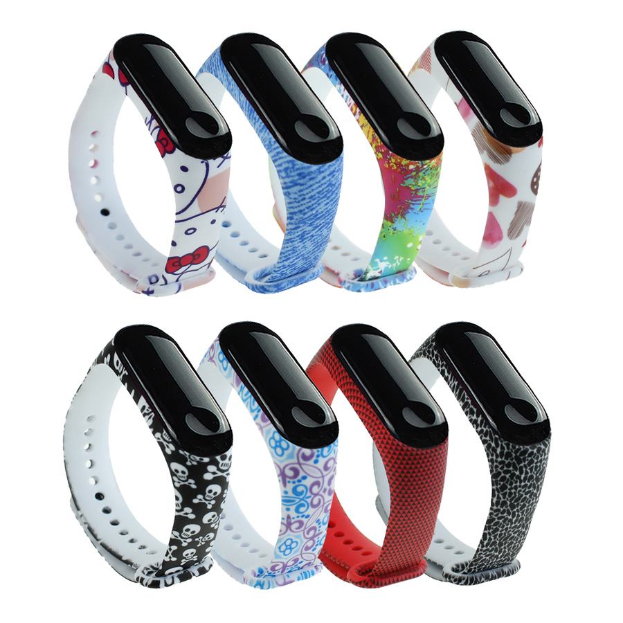 For Mi Band 3 4 Strap Wrist Strap For Xiaomi Miband 4 Silicone For Miband 3 4 Accessories Multi-color Mi 3 Replacement Strap