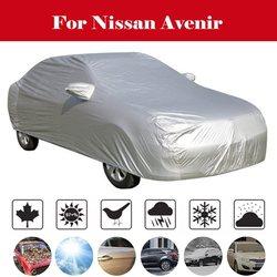Akcesoria samochodowe samochód srebrny duży S M XL 2XL wodoodporna pokrywa namiot grad pełna ochrona przeciwsłoneczna anti-UV pyłoszczelna deszcz dla Nissan Avenir