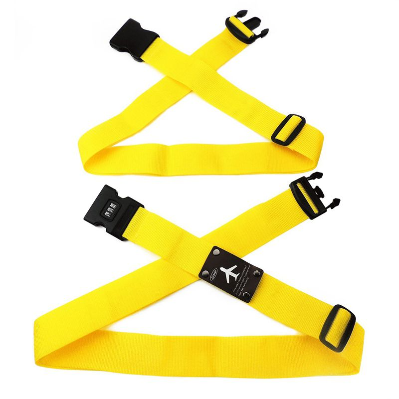 Can Be Disassembled With A Password Lock Cross-strap Belt Bundled Luggage With Luggage Trolley Case Bundle Band (yellow)