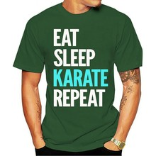 Karate masculina novidade parágrafo amantes das artes marciais legal impresso topo 2021 t-shirt