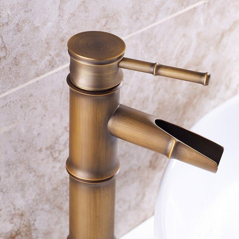 Vidric кран для ванной комнаты, латунный кран для раковины, роскошный кран, высокий бамбуковый кран для горячей и холодной воды, антикварная ку...