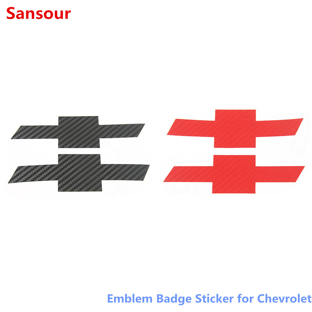 Sansour Carbon Fiber Sticker Car Front Grille Rear Cross Sticker Emblem Badge Sticker for Chevrolet Camaro 2017 Up Car Accessories|Car Stickers| |  - title=