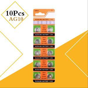 AG10 10 шт./упак. SR1130 аккумулятора кнопочного типа 189 LR1130 LR54 ячейки щелочной Батарея 1,55 V SR54 389 189 для мобильного часо-игрушки пульт дистанционног...