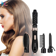 4 In 1 Professional Electric Hair Dryer Blow Dryer Hair Curling Straightener Iron Rotating Brush Hairdryer Hair Styling Tools
