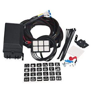 Image 1 - 6 갱 스위치 패널 전자 릴레이 시스템 회로 제어 상자 방수 퓨즈 릴레이 상자 자동차 자동 배선 하네스 어셈블리