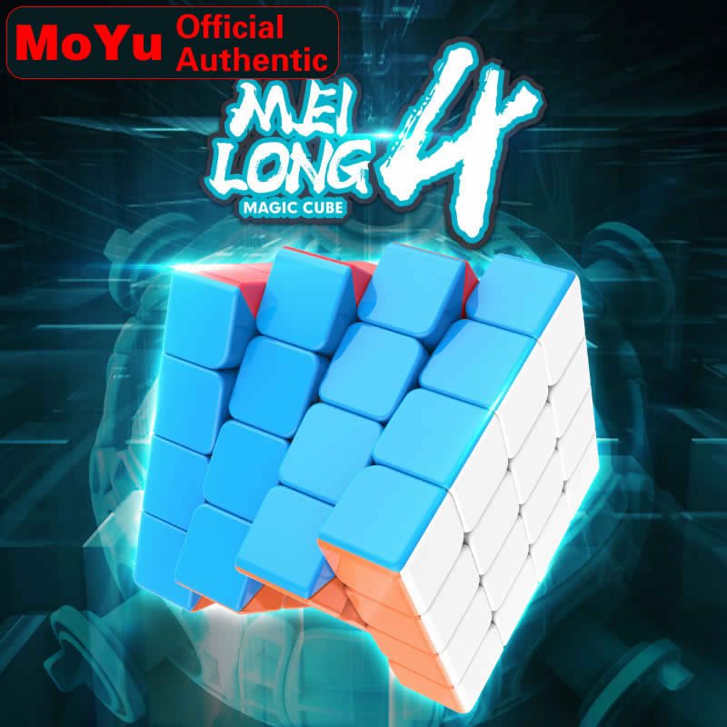 MoYu MeiLong 4 4x4x4 Magic Cube MeiLong4 4x4 Professional Neo Speed Cube Puzzle Antistress Fidget Educational Toys For Children
