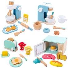 Детские деревянные игровые наборы имитация тостеров хлебопечка