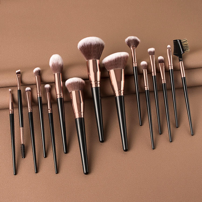15/10/7Pcs Makeup Brushes Set Synthetic Hair Professional Make Up Brush For Eyeshadow Foundation Powder Eyeliner Eyelash Brush
