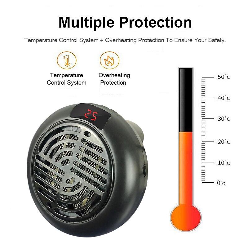 Fan Heater For Home 900w Mini Electric Heater Home Heating Electric Warm Air Fan Office Room Heaters Handy Air Heater Warmer Fan 2