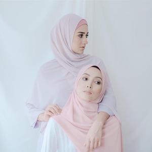 Image 2 - Мусульманский шарф, женский простой пузырьковый шифоновый хиджаб, шарф, мягкие длинные мусульманский головной платок, жоржетты, шарфы, хиджабы 50 цветов