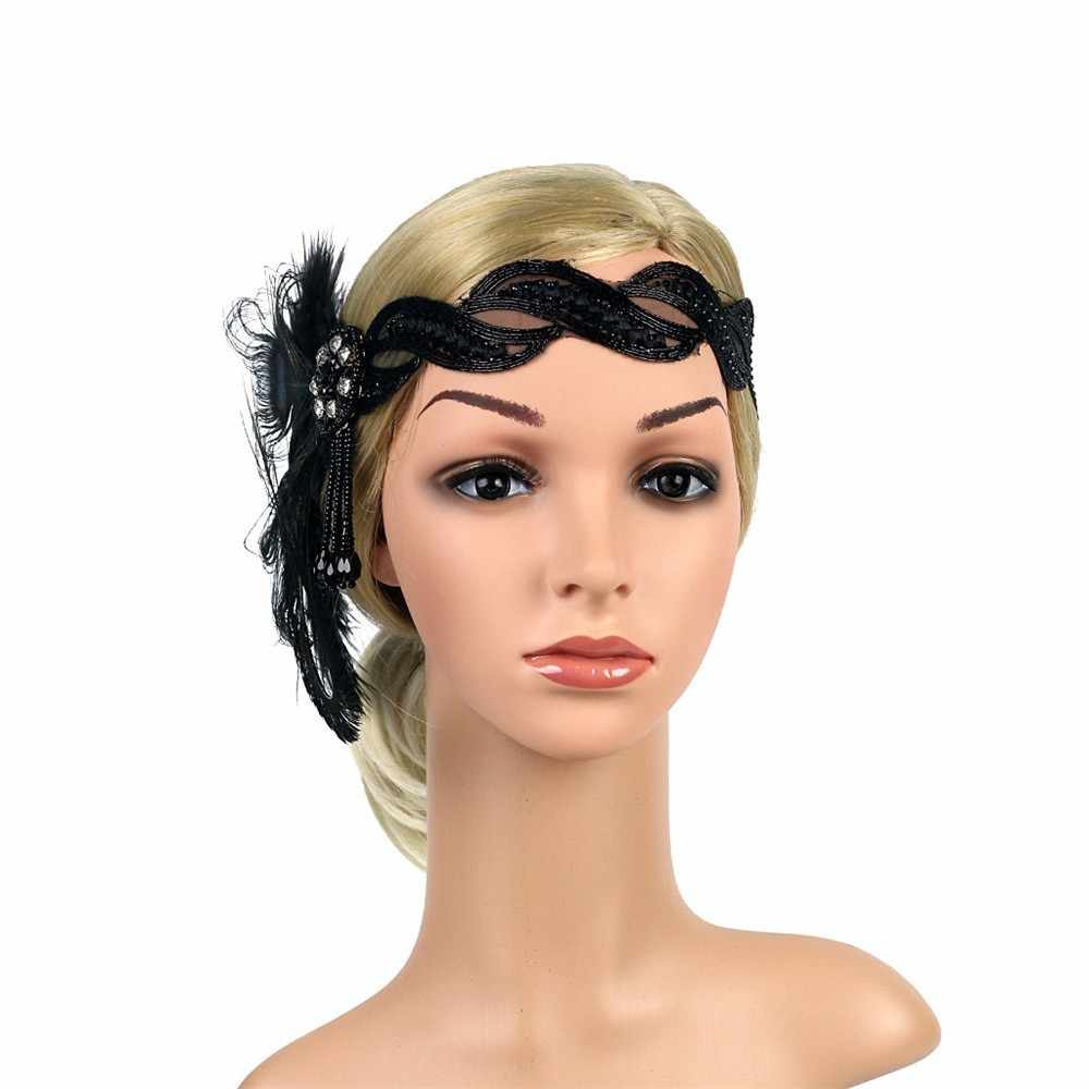 Frauen Kopfstück Pfau Feder Weibliche Mode Zubehör Headwear Dame Band Haar Zubehör Kopfschmuck Mädchen Vintage Haar Ornament