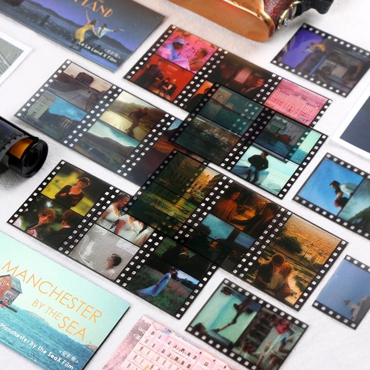 Retro Movie PET Decorative Sticker Stationery Vintage Film Stickers Collage Card Scrapbooking DIY Di