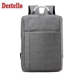 2020 Square Simple Fashion Laptop Backpack Male Korean Version Oxford Fabric Backbag Waterproof Leisure Women Laptop Backpack