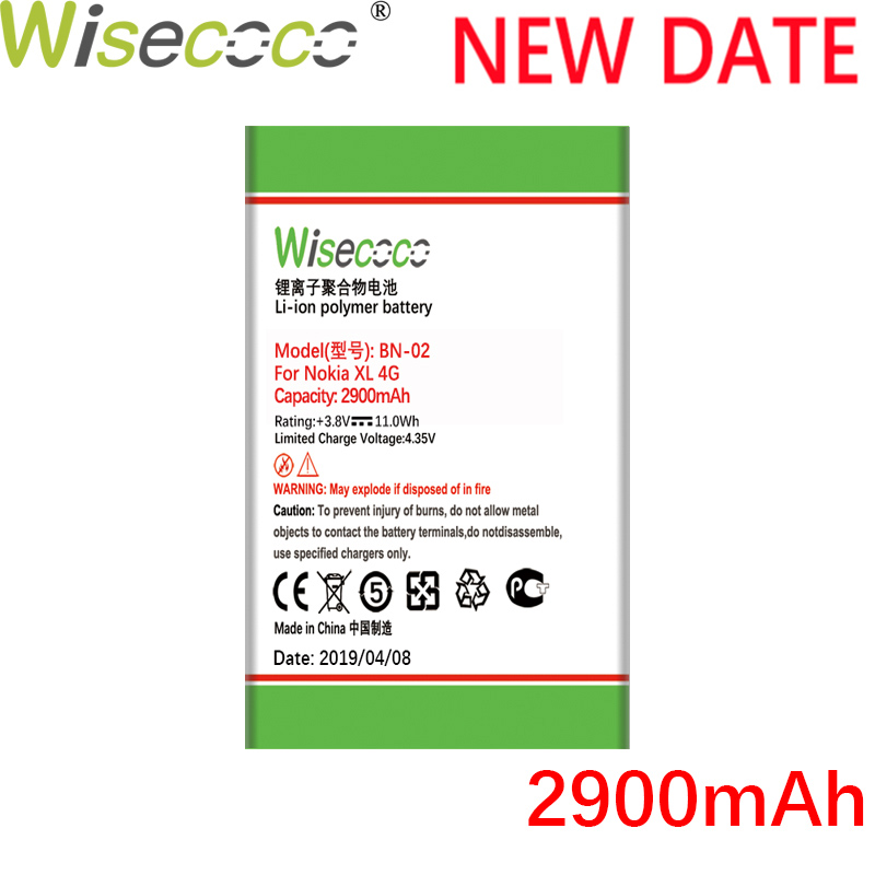 WISECOCO BN-02 <font><b>BN02</b></font> 2900mAh NEW Battery For Nokia XL Battery XL 4G RM-1061 RM-1030 RM-1042 RM-1061 phone high quality battery image