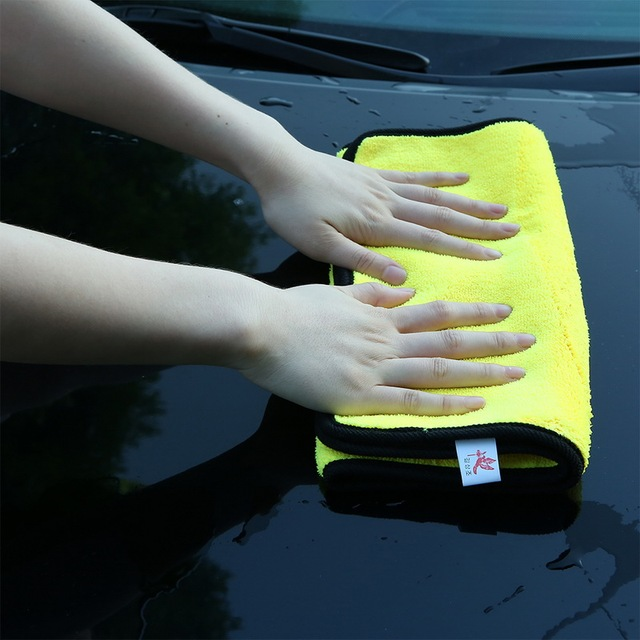 Washing Towels Microfiber Towel For Car Cleaning Hand Tops Super Absorbent Car Quick Dry Yellow Cloth House Washable 1PC 3sizes