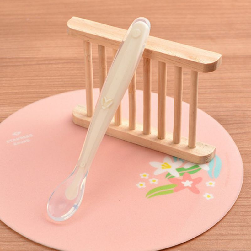 Baby Solid Feeding Silicone Spoon Newborn Infant Cute Soft Utensils Kids Learning Tableware