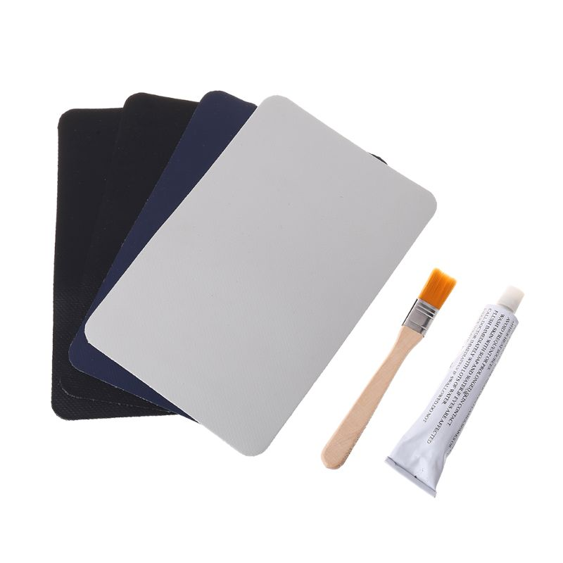 PVC Puncture Repair Patch Glue Kit For Outdoor Inflatable Boat Swimming Pool K4UC