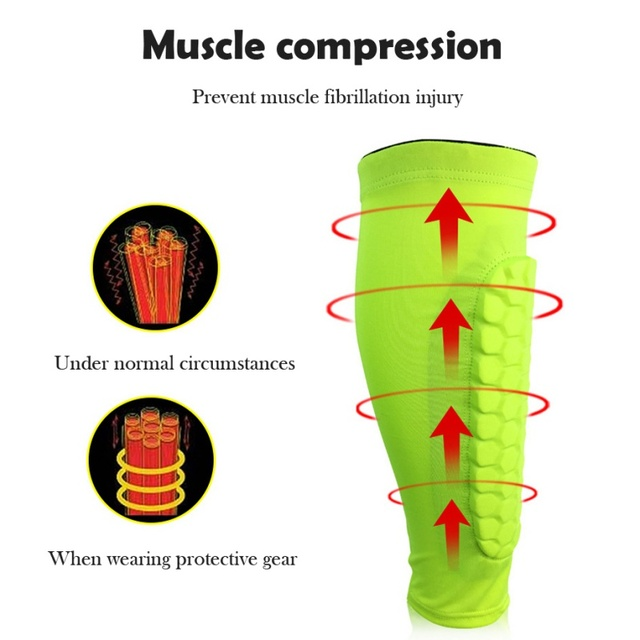 Football Shin Guards Protective Soccer Pads Holders Leg Sleeves Basketball Training Sports Protector Gear Adult Teenager 1PCS