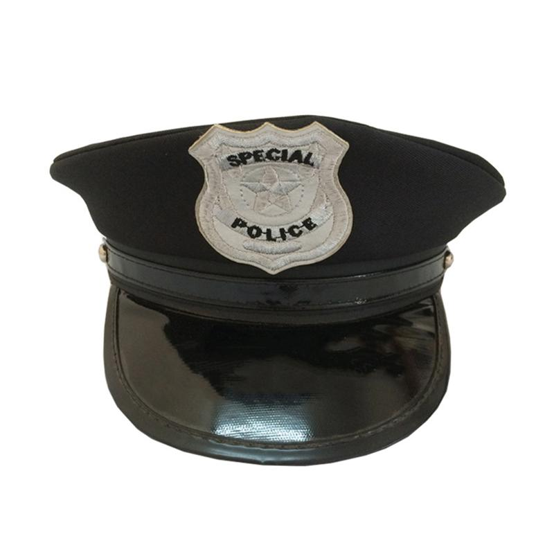 Octagon Police Cap Occupations Toys Classic Adults Police Military Hat Stage Show Cap for Party Cosplay Performance Masquerade
