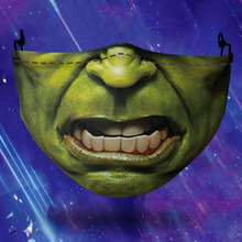 Mask Party Banner Costume Hero-Hulk Cosplay Men Breathable Face-Protection Adult Dust-Proof