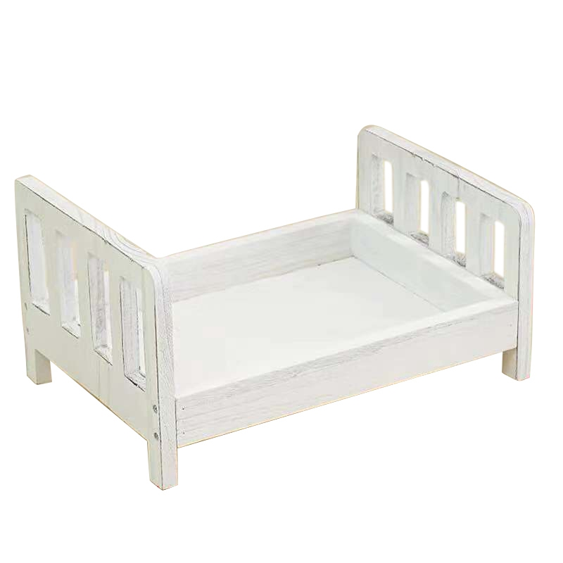 Crib Detachable Basket Wood Bed Accessories Photo Shoot Infant Baby Photography Background Studio Props Gift Sofa Posing Newborn