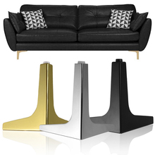 4Pcs DIY Replacement Parts Furniture Sofa Legs Metal Polished Plating Table Cabinet Cupboard Feet Black Gold Furniture Foot