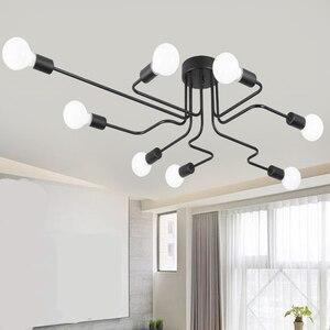 Image 1 - Tavan ışıkları Luminaria Led tavan lamba ışığı Vintage endüstriyel Loft ev aydınlatma armatürü oturma odası için Lamparas De Techo