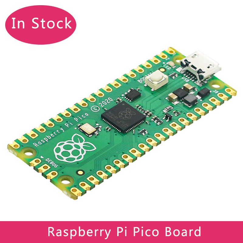 В наличии, Raspberry Pi Pico RP2040, микроконтроллер, чип, Двухъядерный Arm Cortex M0 +, процессор, маломощные микрокомпьютеры