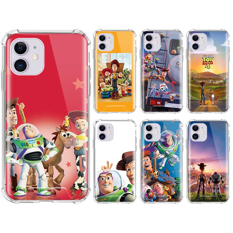 Cartoon <font><b>Toy</b></font> <font><b>Story</b></font> Soft Phone Cover For <font><b>iPhone</b></font> 11 Pro Max SE 2020 X XS XR 6 7 8 Plus Cases Fall Proof Airbag Coque image