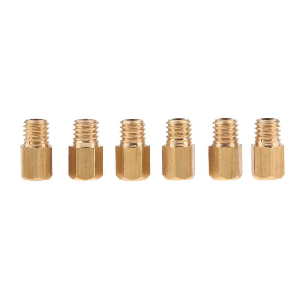 6 adet M5 karbüratör Carb altıgen ana Jet 160 170 180 190 200 210