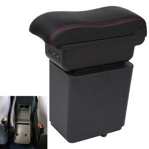 Для Citroen Berlingo подлокотник автомобильный подлокотник кожаный ящик для хранения USB автомобильный Стайлинг центральная консоль коробка автом...